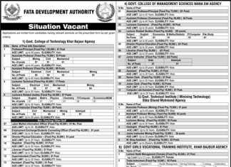 FATA Development Authority FDA Jobs 2016 Form NTS Test Date, Eligibility