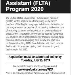Fulbright Foreign Language Teaching Assistant FLTA Program 2020