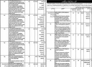 Health Department City District Govt Lahore Jobs 2016 Application Form Last Date