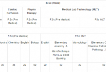 NUMS Entry Test Syllabus MBBS, BDS, BSc Download Pdf