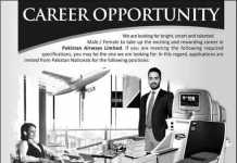 Pakistan Airways Limited Managers Jobs 2016 Apply Online Form Date, Eligibility