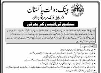 State Bank Of Pakistan SBP Security Officers Jobs 2016 Application Form Download