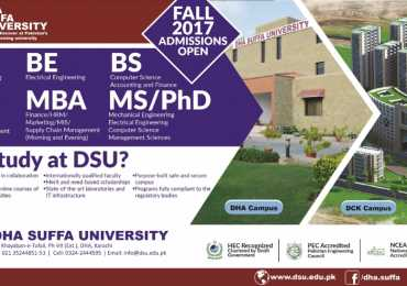 DHA Suffa University Karachi Admissions Fall 2017 Online