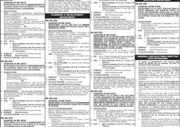 PPSC Latest Jobs October 2016 Advertisement, Application Form Date