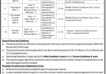 Punjab Food Authority Jobs 2016 Data Entry Operator, Driver NTS Application Form Date