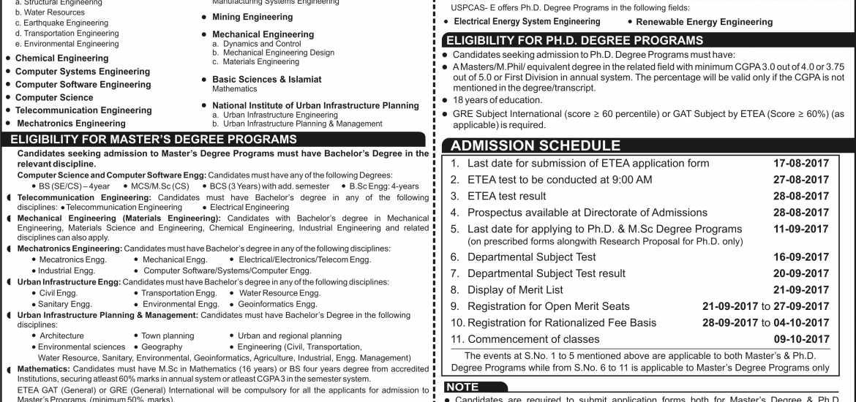 uet peshawar master program admission 2017 entry test result  merit list