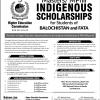 HEC Indigenous Scholarship 2018 Masters/MPhil Application Form Last Date