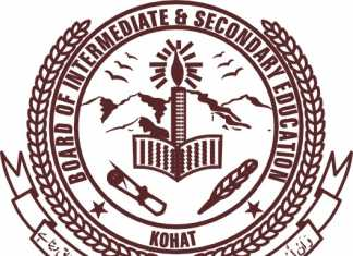 Kohat Board Matric Supplementary Exams Result 2019