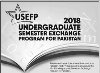 USEFP Undergraduate Semester Exchange Program For Pakistan 2018 Apply Online