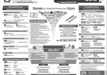 Bahria University Islamabad Spring Admission 2021 Apply Online