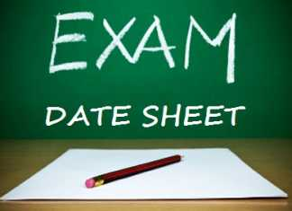 Punjab Board Matric Date Sheet 2020