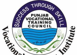 Punjab Vocational Training Council Institutes PVTC Free Short Courses 2019