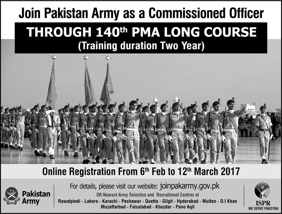 Pakistan Army PMA Long Course 140 Registration Form, Eligibility, How to Apply