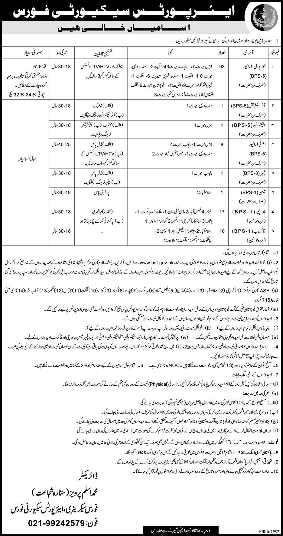Airport Security Force ASF Jobs 2019 Application Form, Last Date