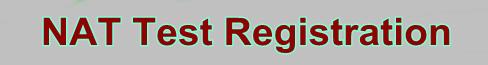 NAT Test Registration