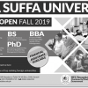 DHA Suffa University Fall Admission 2019 Online