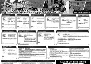 Pakistan Navy Jobs Through Short Service Commission Course SSCC 2018 B