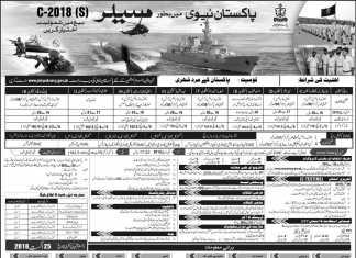 Pakistan Navy Sailor Jobs 2018 Registration Form Advertisement