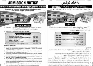 College Of Medical Laboratory Technology Admission 2019