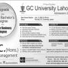 GC University Lahore BSc Admission 2019 Merit List