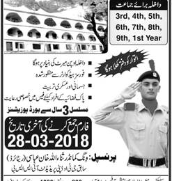 Margalla Cadet College Murree Admission 2018 Form, Entry Test Result