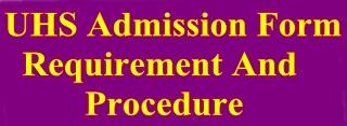 UHS Admission Form