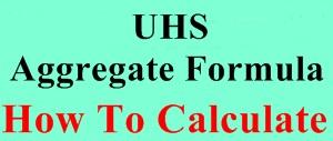 UHS MCAT Aggregate Formula
