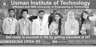 Usman Institute Of Technology Karachi Admission 2018