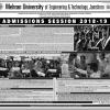 MUET Mehran University of Engineering Admission 2018 Form, Last Date