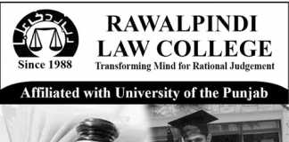Rawalpindi Law College Admission 2017