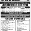 UET Lahore Short Courses Admission 2019 Registration Form