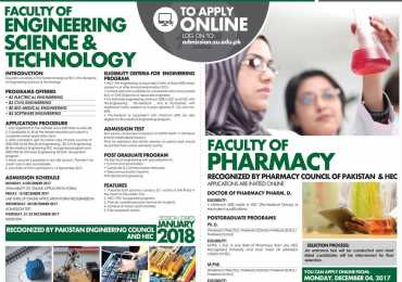 Ziauddin University Karachi Admissions 2019 Form, Fee Structure