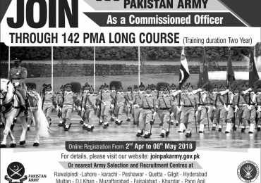 Join Pakistan Army through PMA Long Course 142