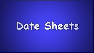 10th Class Date Sheet 2020 All Boards