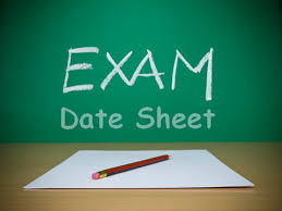 1st Year Date Sheet 2019 All Boards Download Online