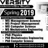 Air University Islamabad Spring Admission 2019