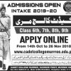 Cadet College Murree Admission 2019-2020