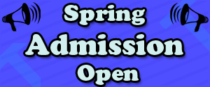 Spring Admission Open