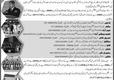 Cadet College Sanghar Admission 2018 8th Class
