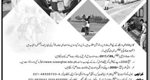 Cadet College Sanghar Admission 2019 8th Class