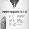 ITU Lahore Fall Admission 2018 Schedule