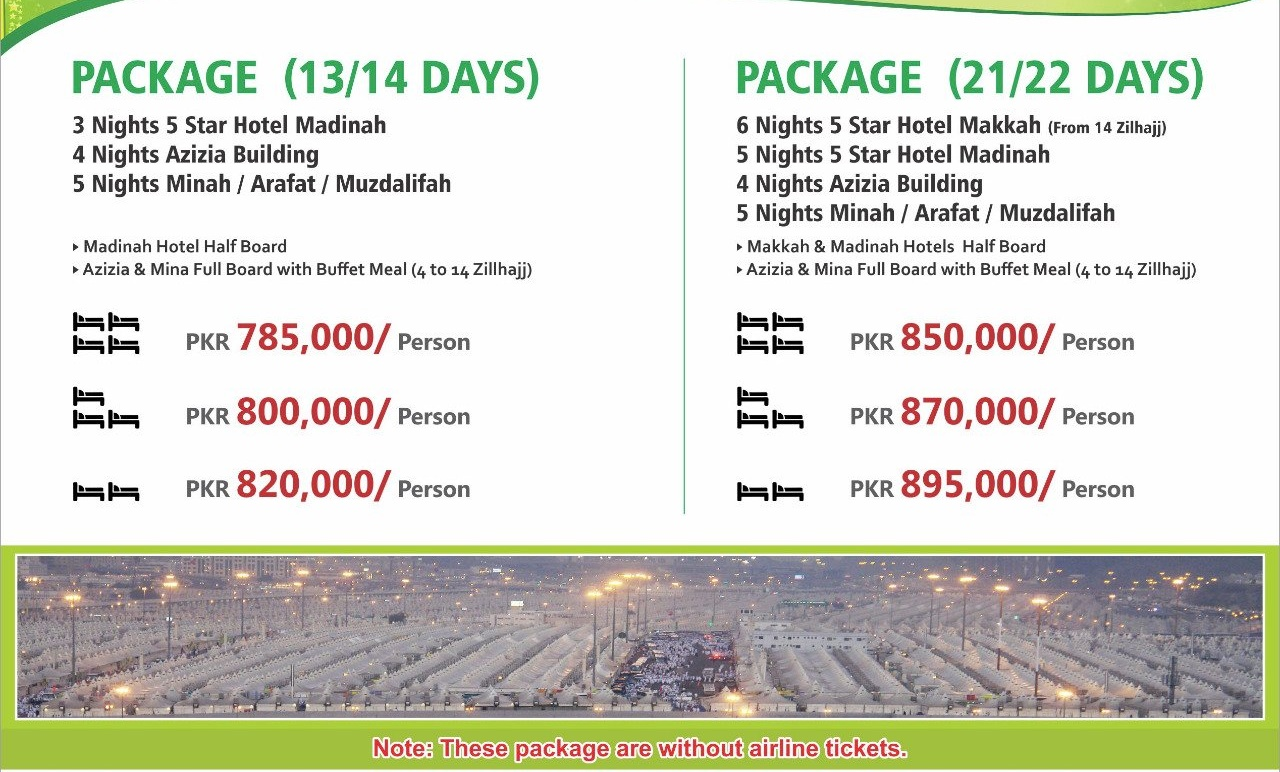 Private Hajj Package 2019 Pakistan Price