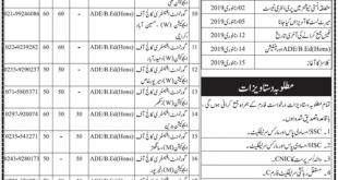 STEDA Sindh Pre Service Teacher Education ADE, B. Ed Admission 2019