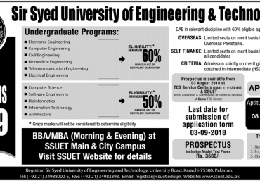 Sir Syed University Of Engineering and Technology Karachi