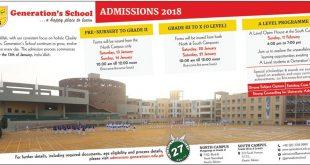 Generation School Karachi Admission 2018 Form, Last Date, Fee Structure