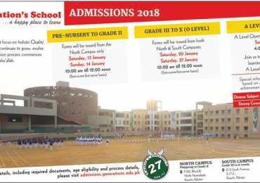 Generation School Karachi Admission 2018