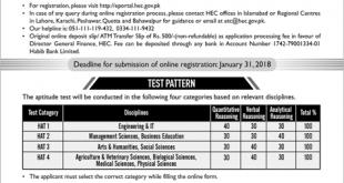 HEC ETC HAT Test 2019 Registration Form