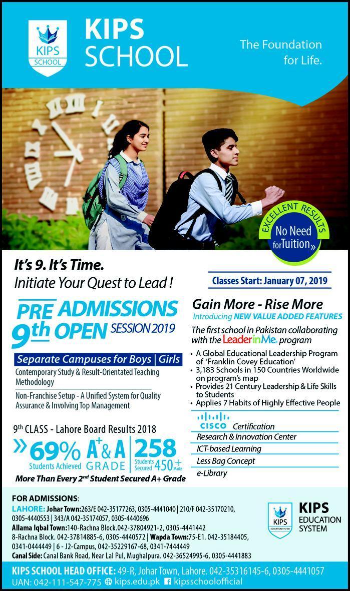 KIPS School Admissions 2019