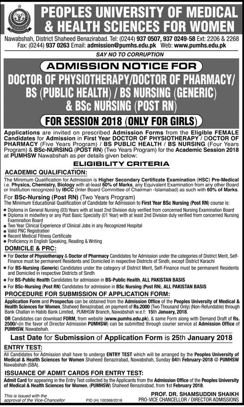 Bsc Nursing Admission Form