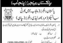 Pakistan Rangers Punjab Sub Inspector, Lady Rangers Jobs 2018 Application Form Written Test